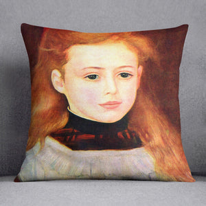 Portrait of Lucie Berard by Renoir Throw Pillow