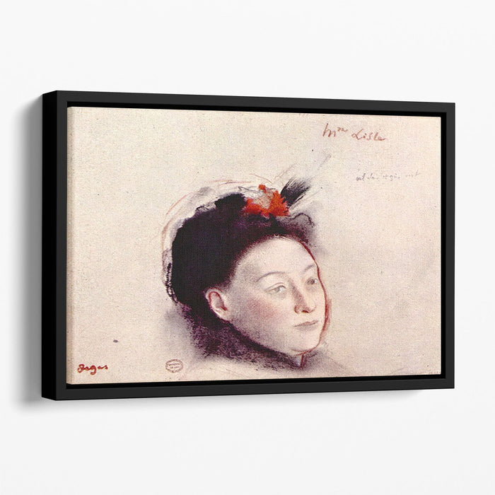 Portrait of Madame Lisle by Degas Floating Framed Canvas