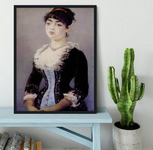 Portrait of Madame Michel LCvy by Manet Framed Print - Canvas Art Rocks - 2