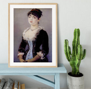 Portrait of Madame Michel LCvy by Manet Framed Print - Canvas Art Rocks - 3