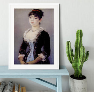 Portrait of Madame Michel LCvy by Manet Framed Print - Canvas Art Rocks - 5