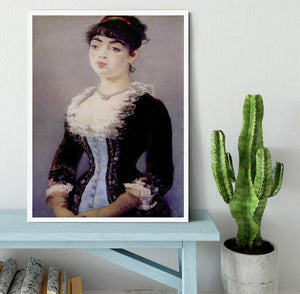 Portrait of Madame Michel LCvy by Manet Framed Print - Canvas Art Rocks -6