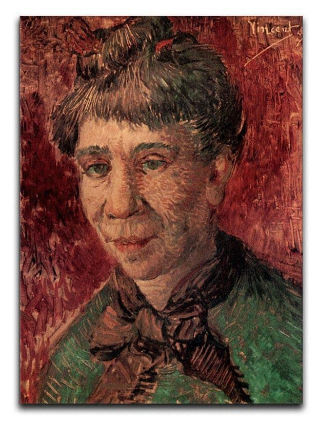 Portrait of Madame Tanguy by Van Gogh Canvas Print or Poster