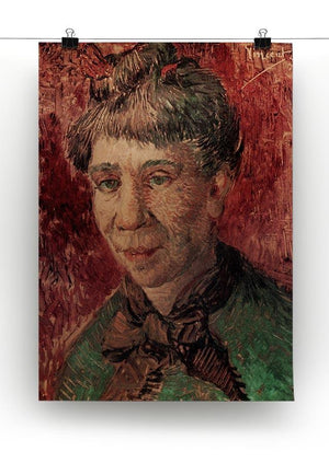 Portrait of Madame Tanguy by Van Gogh Canvas Print & Poster - Canvas Art Rocks - 2