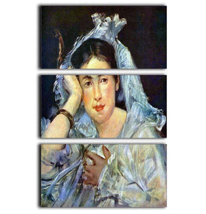 Portrait of Marguerite de Conflans by Manet 3 Split Panel Canvas Print - Canvas Art Rocks - 1