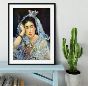 Portrait of Marguerite de Conflans by Manet Framed Print - Canvas Art Rocks - 1