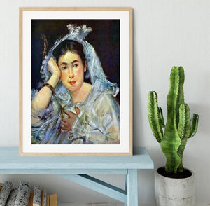 Portrait of Marguerite de Conflans by Manet Framed Print - Canvas Art Rocks - 3