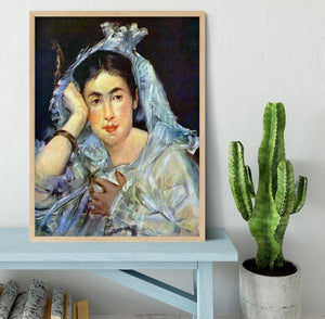 Portrait of Marguerite de Conflans by Manet Framed Print - Canvas Art Rocks - 4
