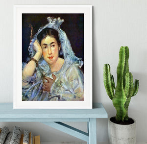 Portrait of Marguerite de Conflans by Manet Framed Print - Canvas Art Rocks - 5