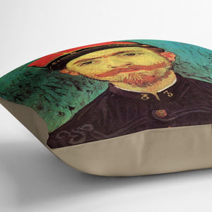 Portrait of Milliet Second Lieutenant of the Zouaves by Van Gogh Throw Pillow