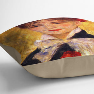 Portrait of Mme Iscovesco by Renoir Throw Pillow
