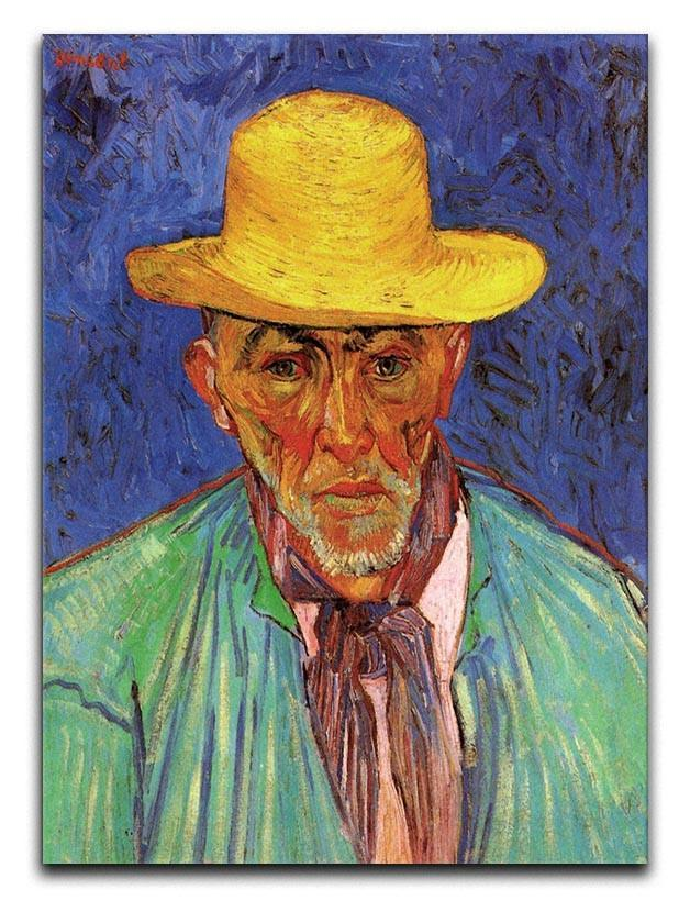 Portrait of Patience Escalier Shepherd in Provence by Van Gogh Canvas Print or Poster
