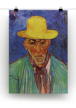 Portrait of Patience Escalier Shepherd in Provence by Van Gogh Canvas Print & Poster - Canvas Art Rocks - 2