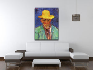 Portrait of Patience Escalier Shepherd in Provence by Van Gogh Canvas Print & Poster - Canvas Art Rocks - 4