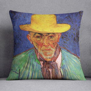 Portrait of Patience Escalier Shepherd in Provence by Van Gogh Throw Pillow