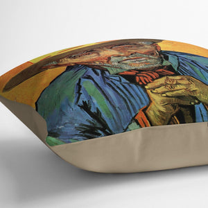 Portrait of Patience Escalier by Van Gogh Throw Pillow