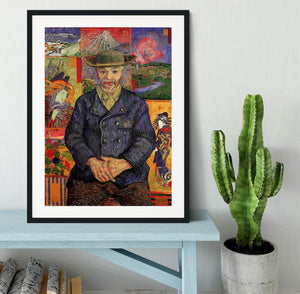 Portrait of Pere Tanguy by Van Gogh Framed Print - Canvas Art Rocks - 1