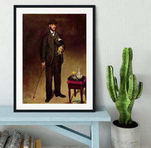 Portrait of ThCodore Duret by Manet Framed Print - Canvas Art Rocks - 1