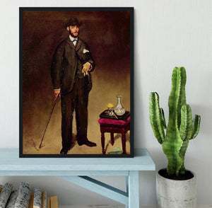 Portrait of ThCodore Duret by Manet Framed Print - Canvas Art Rocks - 2