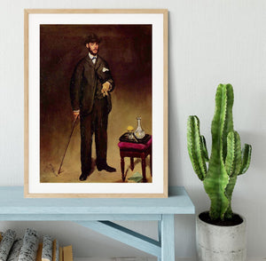 Portrait of ThCodore Duret by Manet Framed Print - Canvas Art Rocks - 3