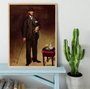 Portrait of ThCodore Duret by Manet Framed Print - Canvas Art Rocks - 4
