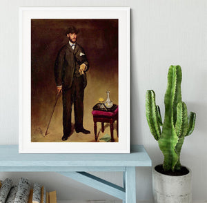 Portrait of ThCodore Duret by Manet Framed Print - Canvas Art Rocks - 5