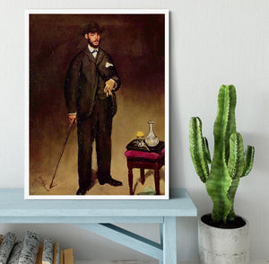 Portrait of ThCodore Duret by Manet Framed Print - Canvas Art Rocks -6