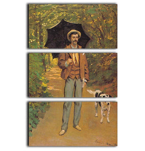 Portrait of Victor Jacquemont by Monet 3 Split Panel Canvas Print - Canvas Art Rocks - 1