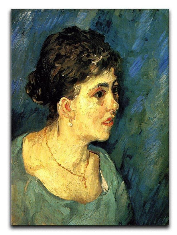 Portrait of Woman in Blue by Van Gogh Canvas Print or Poster