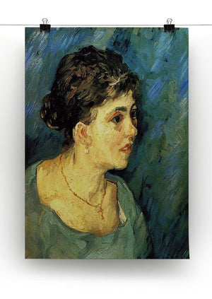 Portrait of Woman in Blue by Van Gogh Canvas Print & Poster - Canvas Art Rocks - 2