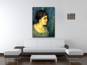 Portrait of Woman in Blue by Van Gogh Canvas Print & Poster - Canvas Art Rocks - 4