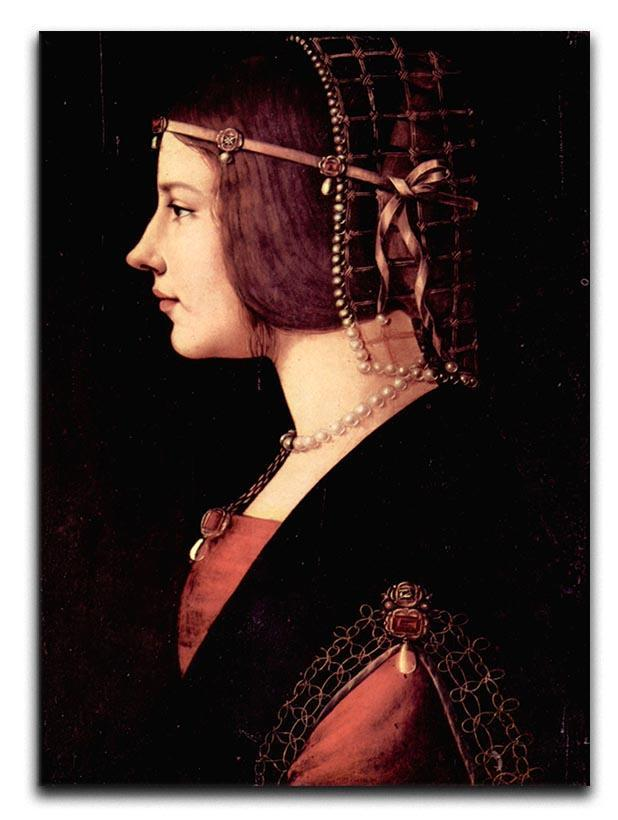 Portrait of a Lady Beatrice d Este by Da Vinci Canvas Print or Poster