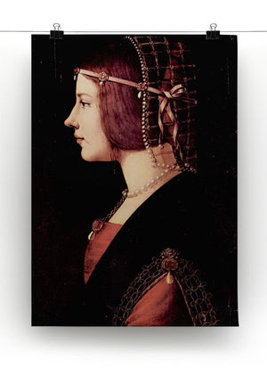 Portrait of a Lady Beatrice d Este by Da Vinci Canvas Print & Poster - Canvas Art Rocks - 2