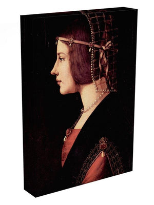 Portrait of a Lady Beatrice d Este by Da Vinci Canvas Print & Poster - Canvas Art Rocks - 3