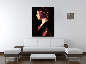 Portrait of a Lady Beatrice d Este by Da Vinci Canvas Print & Poster - Canvas Art Rocks - 4
