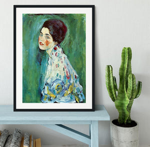 Portrait of a Lady by Klimt Framed Print - Canvas Art Rocks - 1