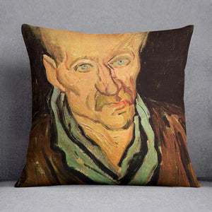 Portrait of a Patient in Saint-Paul Hospital by Van Gogh Throw Pillow