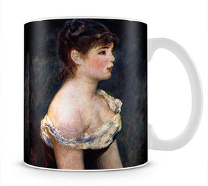 Portrait of a young girl by Renoir Mug - Canvas Art Rocks - 1