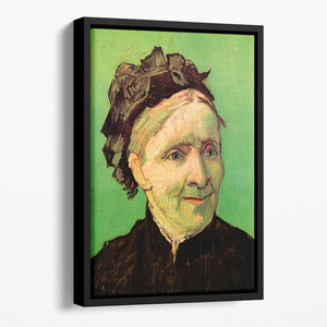 Portrait of the Artist's Mother by Van Gogh Floating Framed Canvas