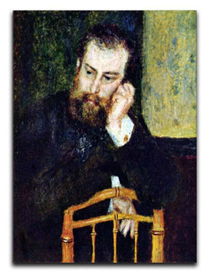 Portrait of the painter Alfred Sisley 1 by Renoir Canvas Print or Poster  - Canvas Art Rocks - 1