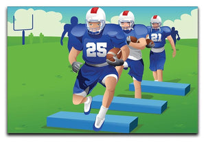 Practicing American football Canvas Print or Poster  - Canvas Art Rocks - 1