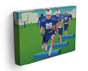 Practicing American football Canvas Print or Poster - Canvas Art Rocks - 3