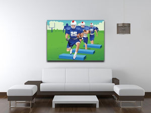 Practicing American football Canvas Print or Poster - Canvas Art Rocks - 4