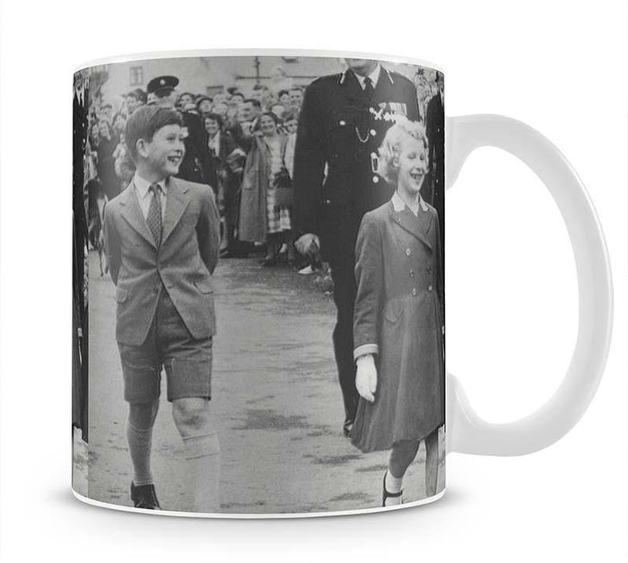 Prince Charles and Princess Anne as children Mug