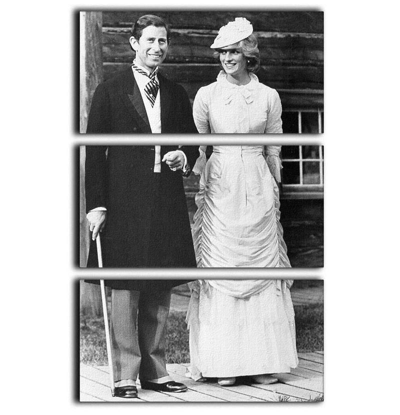 Prince Charles and Princess Diana at Fort Edmonton Canada 3 Split Panel Canvas Print - Canvas Art Rocks - 1