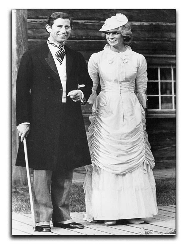 Prince Charles and Princess Diana at Fort Edmonton Canada Canvas Print or Poster  - Canvas Art Rocks - 1