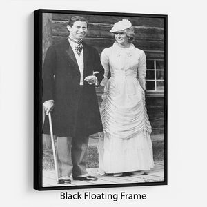 Prince Charles and Princess Diana at Fort Edmonton Canada Floating Frame Canvas