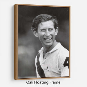 Prince Charles at New Years polo at Cowdray Park Floating Frame Canvas