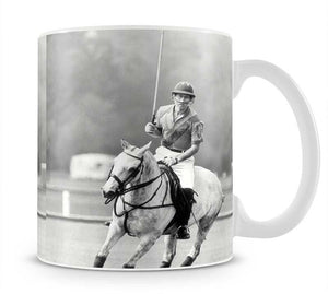Prince Charles in action on the polo field Mug - Canvas Art Rocks - 1