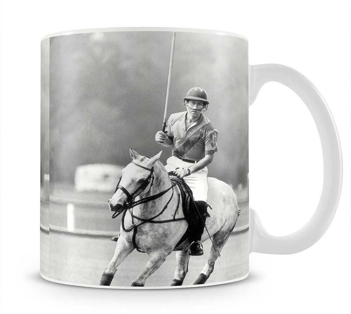 Prince Charles in action on the polo field Mug
